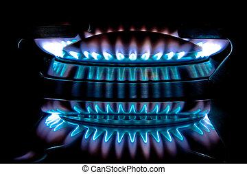 metano, תנור, להבה