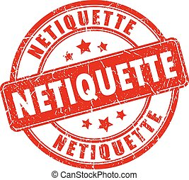 netiquette, בול של גומי
