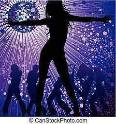 night-club, אנשים, לרקוד