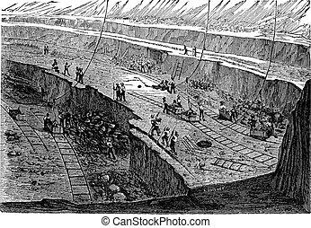 open-pit, בציר, חקיקה, חפור