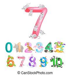 ordinal, בית ספר, אי.בי.סי, בעלי חיים, חשב, אלפבית, דוגמה, אוסף, או, גן ילדים, כמות, ספרים, וקטור, מספרים, פוסטרים, יסודי, ללמד, לספור, ילדים, יכולת
