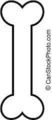 outline., עצם של כלב, איקון
