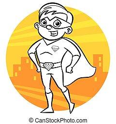 page., לצבוע, סופרגיבור, אופי, הפרד, רקע, עיתון מצויר, לבן