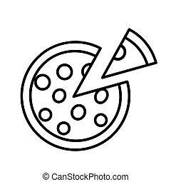 page., רקע., תאר, הפרד, לבן, פיצה, לצבוע