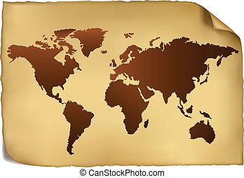 pattern., מפה, עולם, בציר