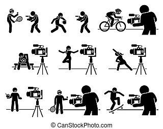 pictogram., influencers, כושר גופני, דיאטה, תקשורת, ספורט, תוכן, יוצר, אינטרנט, וידאו, סוציאלי