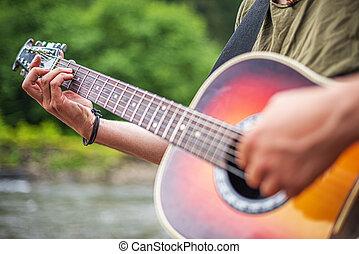 playing., גיטרה, אקוסטי