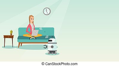 robot., הנדס, תכנות, צעיר, קוקאייזיאני