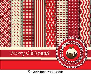 scrapbooking, חג המולד, אדום, קרם