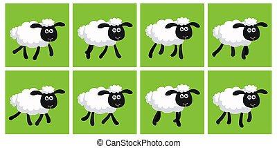 sheep, דף, שדון, אנימציה, לרהוט, ציור היתולי