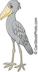 shoebill, אופי, ציור היתולי
