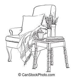 sketch., העבר, מלתחה, רעבים, תינוק, צייר, בגדים