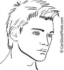 sketch., צפה, וקטור, עצב יסוד, איש
