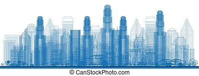 skyscrapers., קו רקיע של עיר, תאר
