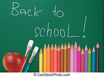 supplies., בית ספר, לוח