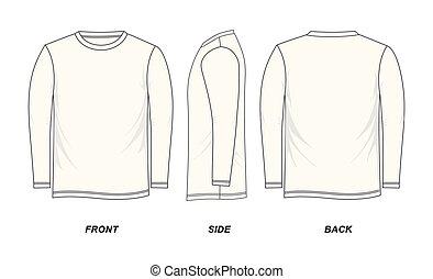 *t* חולצה, שרוול ארוך, דפוסית