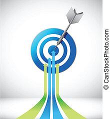target., עצב, חץ, דוגמה, מנהיג