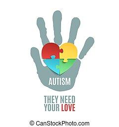 template., פוסטר, מודעות, autism