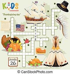 """thanksgiving, תשבץ, קל, day"", בלבל"