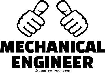 thumbs., *t* חולצה, מכני, design., הנדס