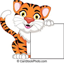 tiger, טופס, עלה, ציור היתולי