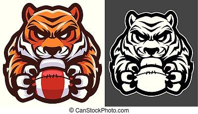 tiger, כדורגל אמריקאי, קמיע
