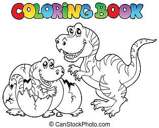 tyrannosaurus, לצבוע ספר