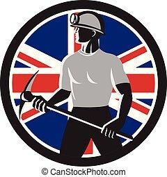 uk-flag-icon, coal-miner-pick-ax-shield, circ