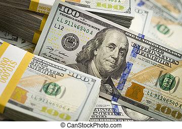 *u*.*s*., חשבן, דולר, תקציר, מישהו, חדש, מאות, ערימות