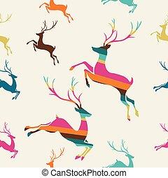 vector., תבנית, seamless, פסים, אייל, חג המולד שמח