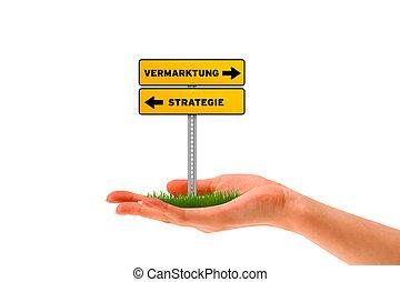 vermarktung, strategie, -
