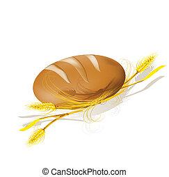 wheat., bread, illustration., וקטור