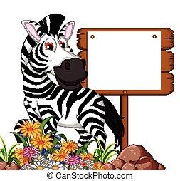 zebra, ציור היתולי, עלה, טופס